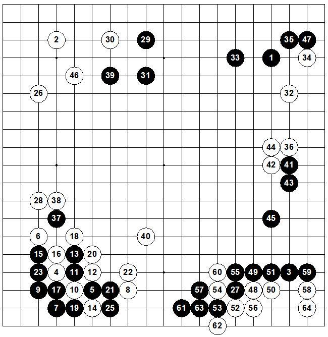 (White) Rin Kaiho, 9p - Cho Chikun, 8p (Black)