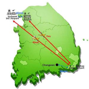 Seoul to destination, Changwon