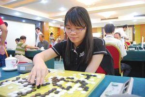 文莱棋手宋蕙艺, 是本次围棋赛唯一的女将