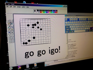 Go using Paint (game by Xinwen and Hazim at CheezBox)