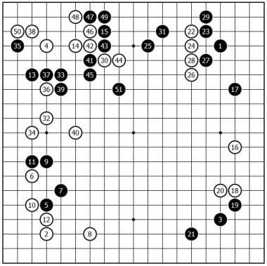 高川秀格 Takagawa Shukaku (White) vs 杉内雅男 Masao Sugiuchi (Black)