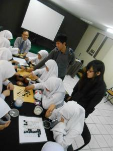 During the teaching games
