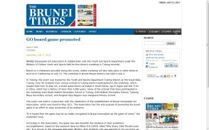 Brunei Times on 7th July, 2012 (Tutong)