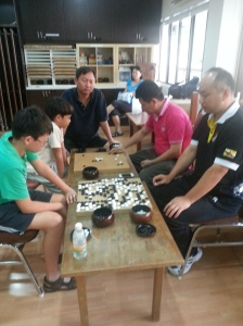 Jacky Yin playing with a member of Malaysia Weiqi Association 2