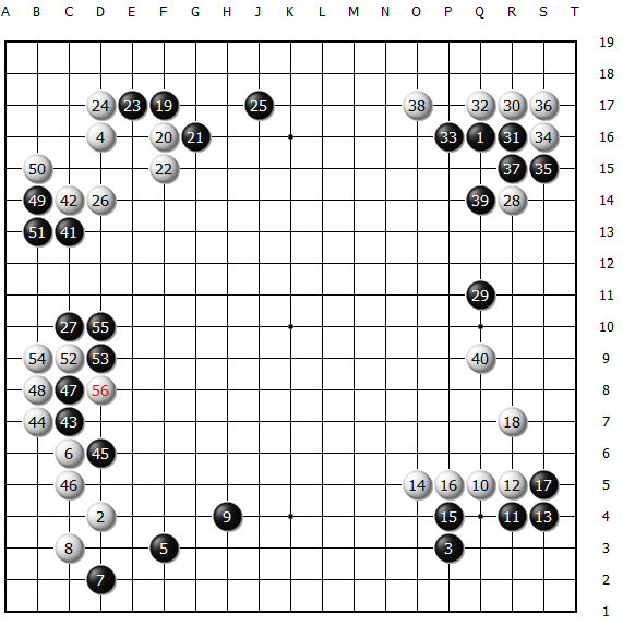 Diagram 1 (move 1 ~ 56)