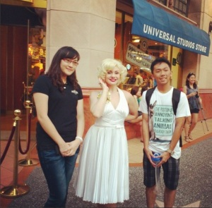 "with ""marilyn monroe"""